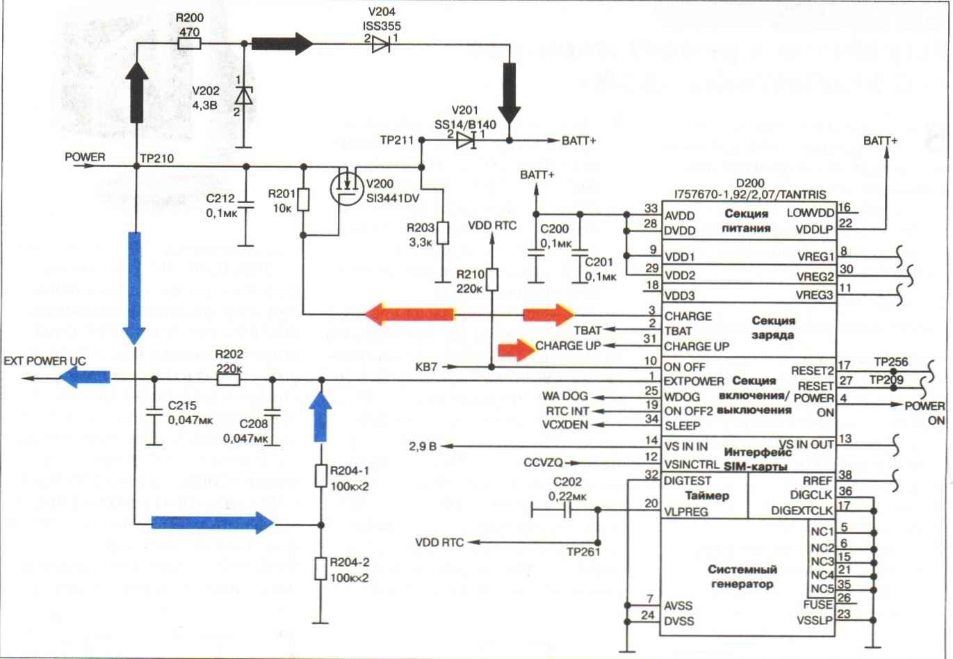 Рис. 8. Принципиальная схема узла зарядного устройства.  Внимание.  При выходном напряжении ЗУ более 15В произойдет...